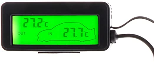 1Pc 12V Car Digital LCD Display Indoor Outdoor Temperature Meter Thermometer ℃