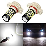 Alla Lighting 1000 Lumens High Power 2835 51-SMD Super Extremely Bright 6000K White 9009 5201 5202 12085 LED Bulbs for Fog Light Lamps Replacement