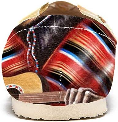 TIZORAX - Mocassini da donna con scimmia in abito messicano per suonare la chitarra, comodi, casual, in tela, per barca, taglia 3
