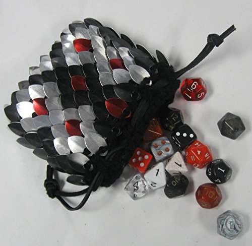 Dragonhide Dice Bag Size Medium Knitted Scale Armor - Reptile by Crystal's Idyll