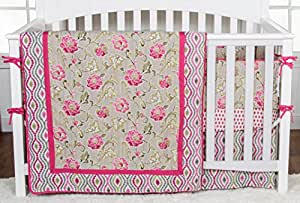 Amazon Com Trend Lab Waverly Jazzberry 3 Piece Crib