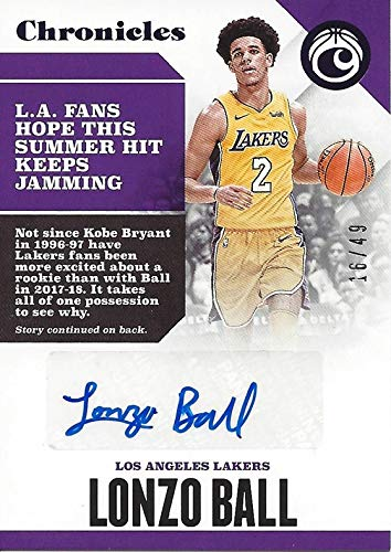 0d7d2dffcea AUTOGRAPHED Lonzo Ball 2017-18 Panini Chronicles Basketball ( 2 Los Angeles  Lakers)
