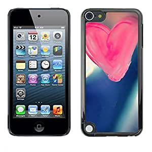 PC/Aluminum Funda Carcasa protectora para Apple iPod Touch 5 Love Pink Love / JUSTGO PHONE PROTECTOR