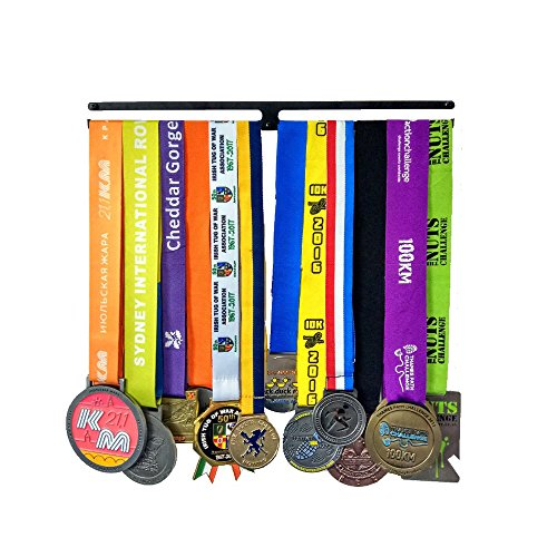 Medal Hanger | Medal Show Metal Bracket | Medal Rack Continue Running | Runner's Medal Hanger | Medal Display Stand | Trophy (Lower Metal Shelf)