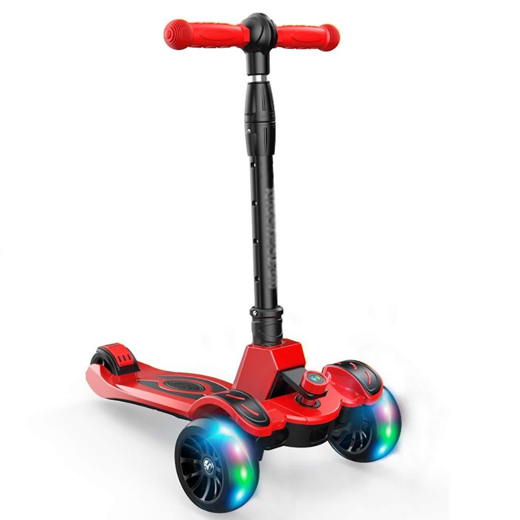 キッズレッドスクーター - - PU点滅ホイール、折りたたみ式デザイン、調節可能なハンドル B07QTGQJM5 B07QTGQJM5, ウエキマチ:f0316411 --- magento.marketcentral.in