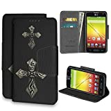 ultimate check register - Beyond Cell ®Infolio® LG Optimus L70/LG D325/LG Realm LS620/LG MS323/LG Ultimate 2 L41C (T-mobile,Metro PCS,Boost Mobile,Cricket)Premium 2-Layer Protection Luxury PU Leather Folio Flip Cover Wallet Phone Case With Built in Media Kickstand and Card Slots - Cross Gothic Design - Retail Packaging