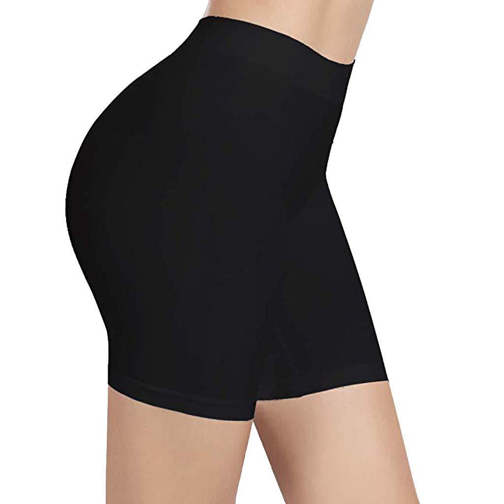 LUNIWEI Shorts for Women High Waist Comfortable Thigh Slimmer Slip Shorts for Under Dresses Pants Black