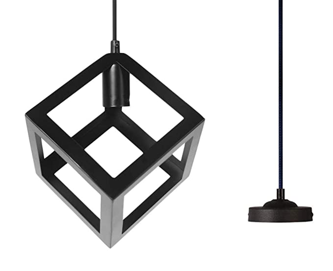 Amazon.com: JKLcom - Lámpara de techo cuadrada de color ...