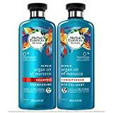 Herbal Essences Biorenew Argan oil of Morocco Repair Shampoo 13.5 OZ and Conditioner 13.5 OZ, Bundle Pack