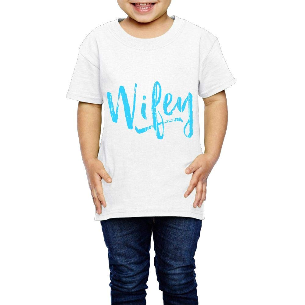 XYMYFC-E Wifey Vintage 2-6 Years Old Child Short-Sleeved T Shirt