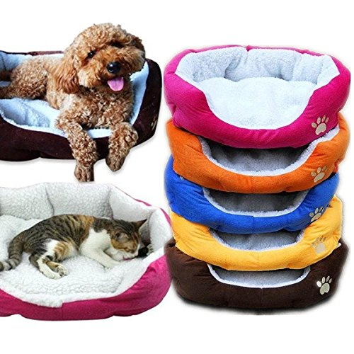 Hiquty Large Size Fleece Soft Warm Dog Mats Bed Pad   Yellow