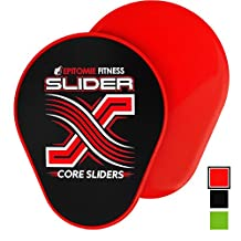 Slider X Gliding Discs - Power Sliding Disc Set For Core Workouts And Slide & Glide Exercises On Hardwood Floors & Carpet (Perfectly Shaped For Hands & Feet)