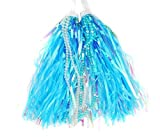 Kids Scooter and Bike/Trike Hand Grip Handlebar Streamers with Beads Multi-Coloured/Bicycle Grips Sparkle Tassel Strap/Baby Carrier Accessory, blue