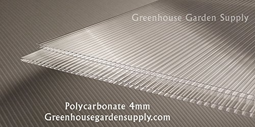 (Polycarbonate Greenhouse Cover 4mm - Clear 24