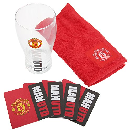 manchester-united-fc-official-football-bar-set-pint-glass-towel-beer-mats-one-size-red-black