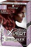 Schwarzkopf Color Expert Omegaplex Hair Dye, 6-88 Intense Red, 6-8 Washes