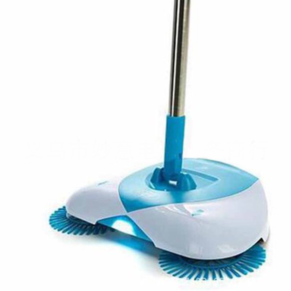 Household Sweeper, Unique 360 Degree Rotary Magic Manual Floor Dust Hurricane Spin Sweeper Lightweight Make Sweeping Easy for Home Cleaning Spin Broom Household Broom(38.5 21.5 9.3CM,Blue and Whit MEIBY
