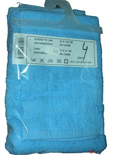 Set de servilletas de deporte/viaje algodón 100% incluye 1 toalla de baño y