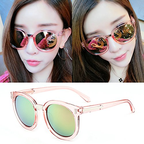 lunettes de soleil mesdames les étoiles de nouvelles nuances de lunettes de soleil élégant de personnalités les visages coréenne poudre film transparent (tissu)