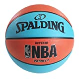 Spalding NBA Varsity Neon Outdoor Basketball, 29.5-Inch, Blue/Salmon