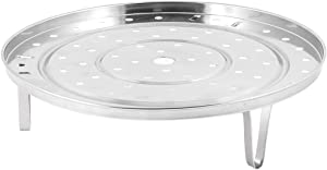 uxcell Stainless Steel Steaming Steamer Rack Kitchenware 10 Inch Dia