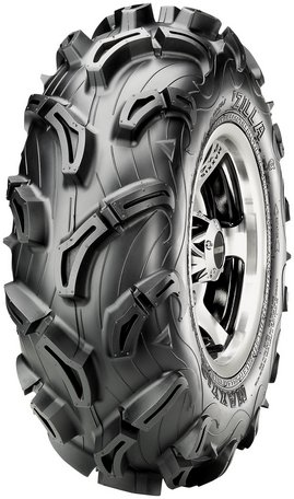 Maxxis MU01 Zilla Tire - Front - 27x9x12 , Tire Size: 27x9x12, Tire Construction: Bias, Tire Application: Mud/Snow, Position: Front, Rim Size: 12, Tire Ply: 6, Tire Type: ATV/UTV TM00051100 by Maxxis
