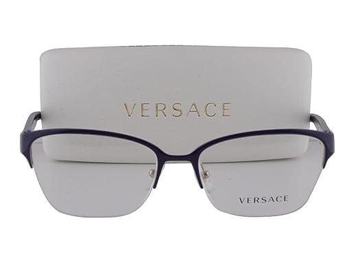 8024df1640 Amazon.com  Versace VE 1224 Eyeglasses 53-17-140 Pale Gold 1353 ...