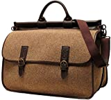 Floto Unisex [Personalized Initials Embossing] Vaggo Duffel Travel Bag in Beige
