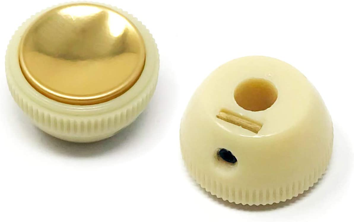 Teacup Hofner Knob Set Gold Reflector Face Montreux Selected Parts fits Höfner ®