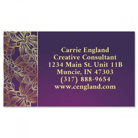 Calling Set Card (Abstract Business Cards- Set of 250 Custom Business Card Design; 80# Cover Stock, Opaque, Matte)