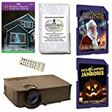 AtmosFearFx Christmas and Halloween Digital Decoration Kit includes 1900 lumen Projector, Hollusion + Reaper Bros Rear Projection Screens, Night Before Christmas and JackOLantern on SD Cards
