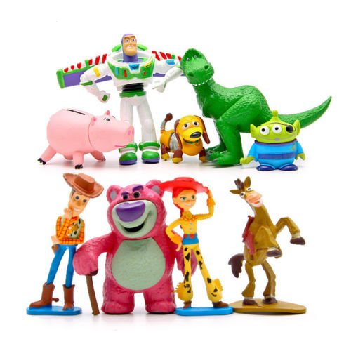 Costume King For Burger Sale (Phantomx 9pcs Toy Story Woody Jessie Buzz Lightyear Action Figure Kids Toy)