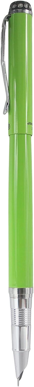 Sipliv stylo plume mince avec des diamants sur capuchon vert