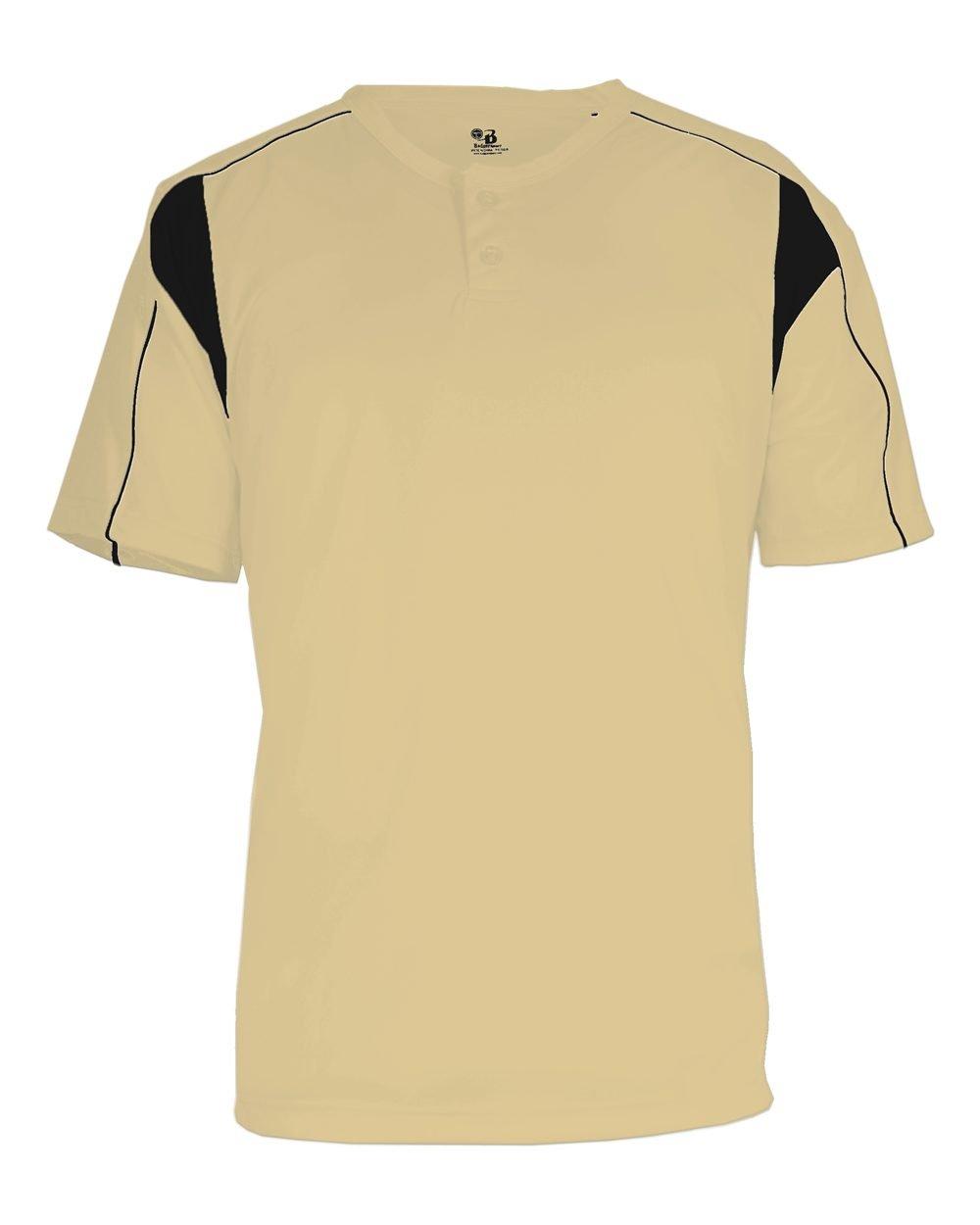 Badger 7937 BD Pro Plkt BSEBLL Tee B00E7NZLVY XL|Vegas Gold/ Blk Vegas Gold/ Blk XL