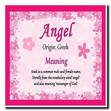 ángel Personalizada Nombre Significado Posavasos Amazones Oficina