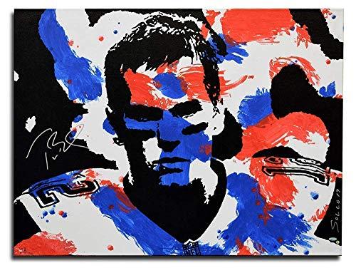 Steiner Memorabilia - Tom Brady Patriot Warrior Football Painting/Memorabilia