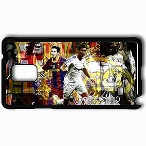 Personalized Samsung Note 4 Cell phone Case/Cover Skin Awesome fantastic cristiano ronaldo vs lionel messi Black