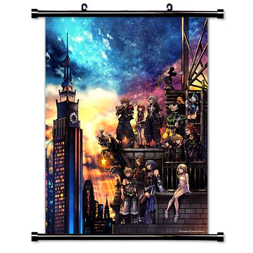 Scroll Heart - ROUNDMEUP Kingdom Hearts 3 Game Fabric Wall Scroll Poster (16x22) Inches [VG] Kingdom Hearts 3-32