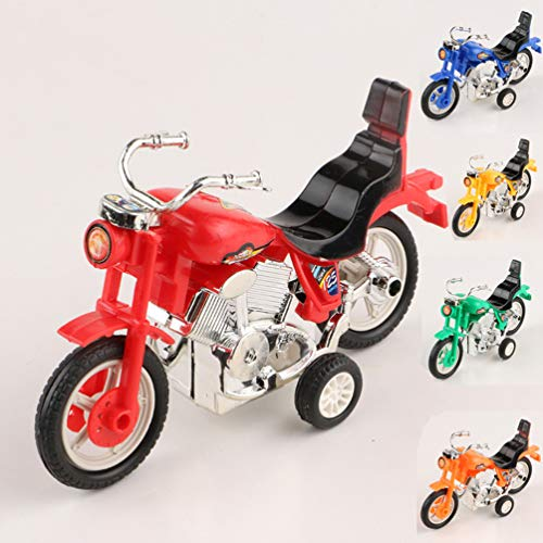 Toyvian Mini Motorcycle Toy Dirt Bike Model Inertial Friction Powered Motorbike Toy for Kids Vehicles Party Favors 4pcs (Mixed Color)