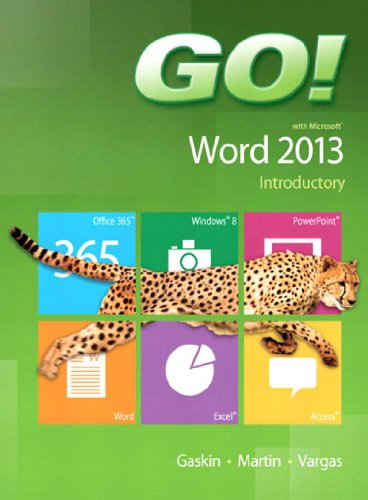 GO! with Microsoft Word 2013 Introductory Pdf