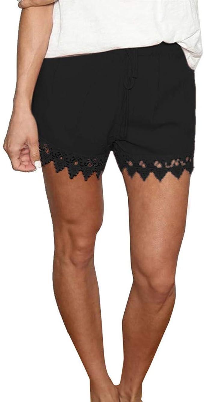 Hot Sale Summer Casual Linen Sport Running Shorts Mens Beach Pants Elastic Waist