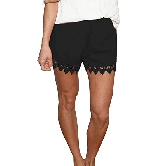 Jogging Shorts Gym Bottoms Ladies Women Solid Summer Casual Beach Trousers Pants