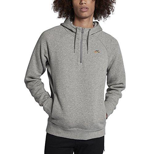 (Nike mens M NK SB HOODIE ICON HZ 929147-064_L - DK GREY HEATHER/BLACK)