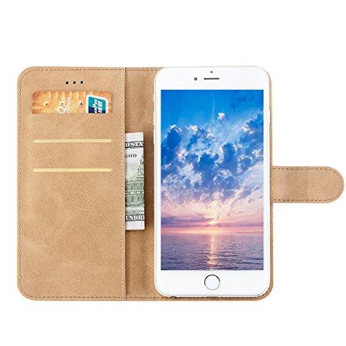 Ocolor Cajas tricoloras del teléfono del cuero de la PC de la serie de Ocolor Sima para Huawei P9 Plus (Negro) Barro amarillo