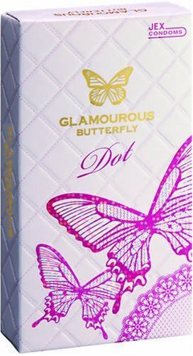 JEX Glamorous Butterfly | Condoms | Dot(1350 dots) 8pc