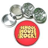 School House Rock Retro 4 Pc. Aluminum Tobacco Spice Herb Grinder