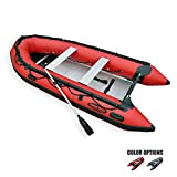 Seamax Ocean380 12.5 Feet Heavy Duty Inflatable Boat with Hot Welded Chamber Seam, Max 5 Passengers and 25HP Rated
