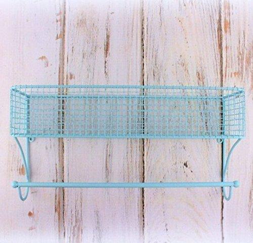 Wire Bathroom Shelf, Bathroom Organizer, Bathroom Towel Rack, Basket With  Towel Rod