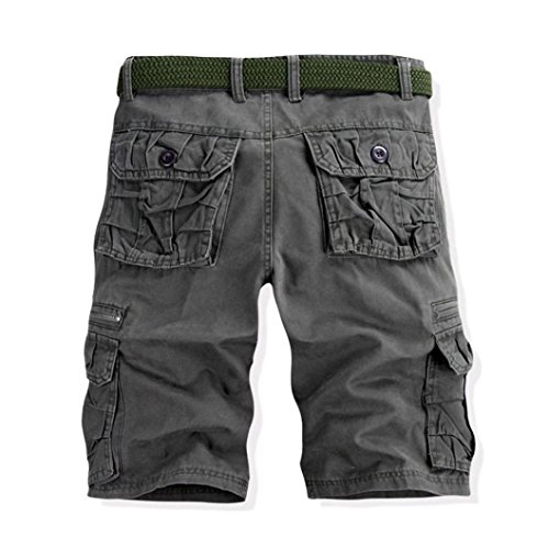 Vintage Bermudes Avec Court Keerads Chino Summer Poches Hommes Cargo Gris Shorts Pantalon x7XFYS