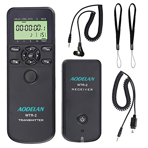 (AODELAN Camera Wireless Shutter Release Timer Remote Control for Nikon Z6, Z7, D850, D810, D750, D700, D3, D4, D5, D3100, D5000, D7200, D600, D610, D3300, Coolpix P1000; Replace MC-DC2, MC-36, MC-30A)